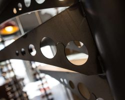escaliers forgés en forme de lunettes